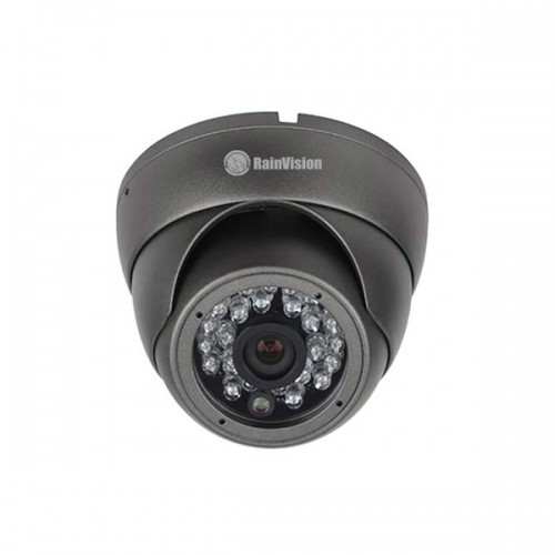 HDEB24-3-B Rainvision 2.8mm 30FPS @ 1080p Outdoor IR Day/Night HD-TVI/HD-CVI/AHD/Analog Eyeball Security Camera 12VDC - Dark Gray
