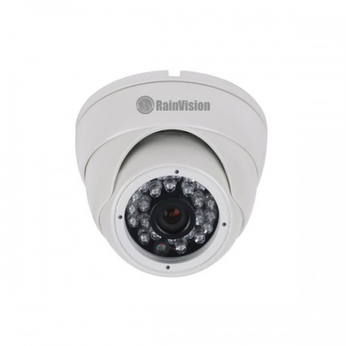 HDEB24-4-W Rainvision 3.6mm 30FPS @ 1080p Outdoor IR Day/Night HD-TVI/HD-CVI/AHD/Analog Eyeball Security Camera 12VDC - White